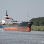 nákladná loď pri meste Braila